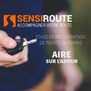 Stage agréé de récupération de points de permis à Aire sur l'Adour avec Sensiroute
