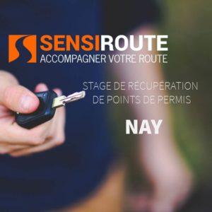 Stage agréé de récupération de points de permis à Nay avec Sensiroute