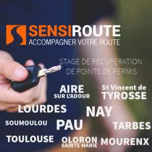 Stage agréé de récupération de points de permis avec Sensiroute